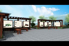 青石桥广告橱窗设计制作