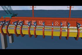 桥梁施工三维动画
