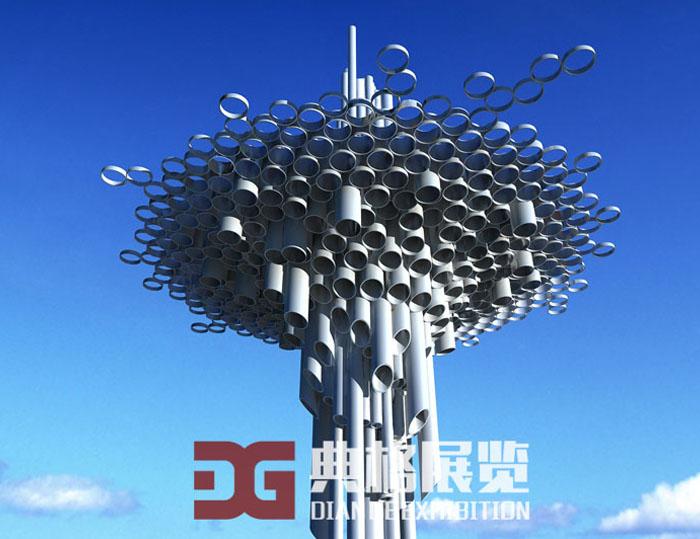雕塑设计-管乐