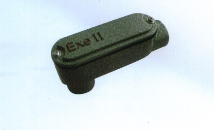 铝合金防爆后弯穿线盒
