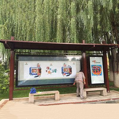 石家庄不锈钢公交站牌
