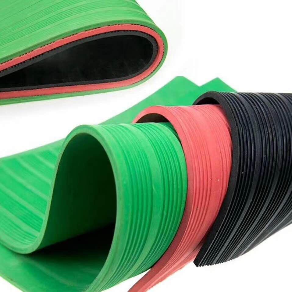 彩色条纹防滑橡胶板