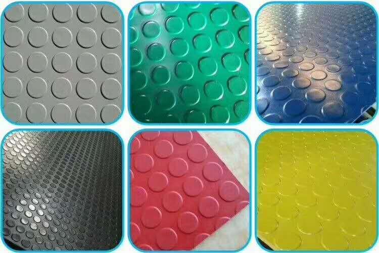 彩色圆扣防滑橡胶板(天桥用)