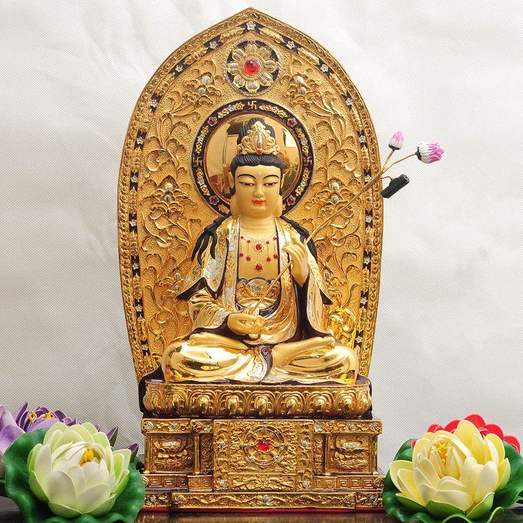 河南铜鎏金佛像
