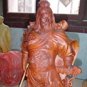 木雕关公佛像