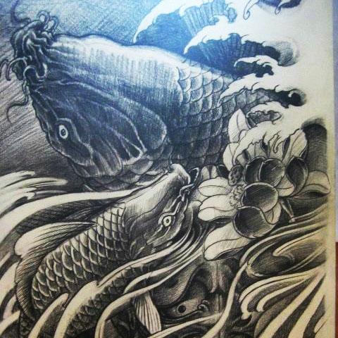 鲤鱼图绘画