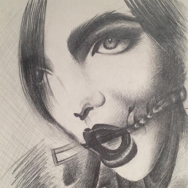个性女郎绘图作品