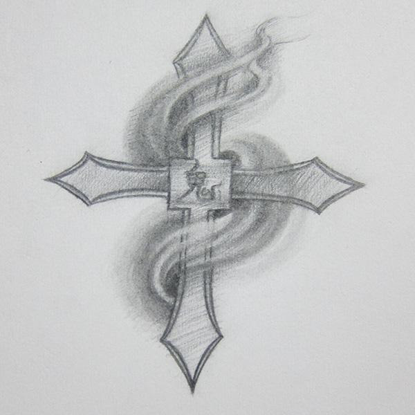 十字架绘画作品