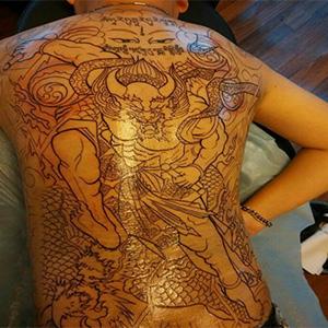 钟馗降魔纹身
