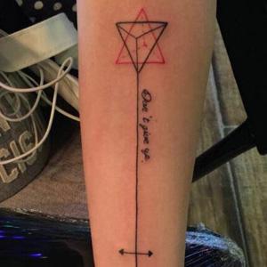 三角箭头纹身