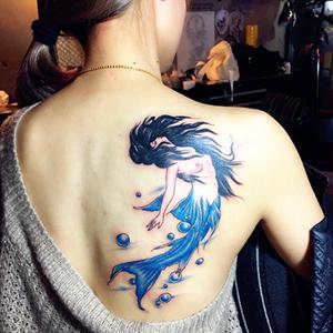 美人鱼我纹身分享展示图片