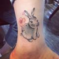 小兔子纹身