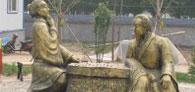 安装于濮阳锻铜人物雕塑