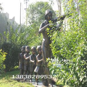 河南园林玻璃钢人物雕塑