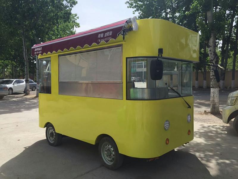 新款电动街景餐车
