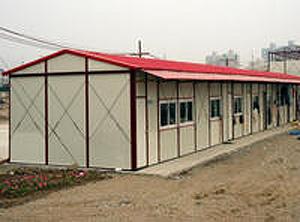 单层k式坡顶活动房