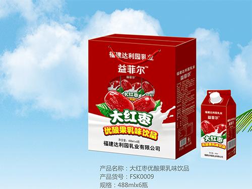 大红枣优酸果乳味饮品