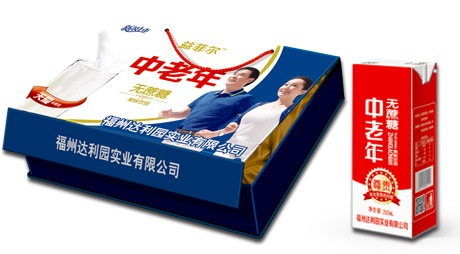 中老年果味饮品(仿木盒)
