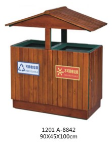贵阳钢木垃圾桶批发