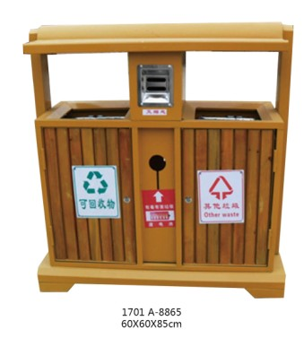 贵阳钢木分类垃圾桶