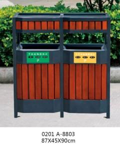 贵阳钢木分类环保垃圾箱