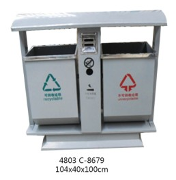 钢制分类垃圾桶