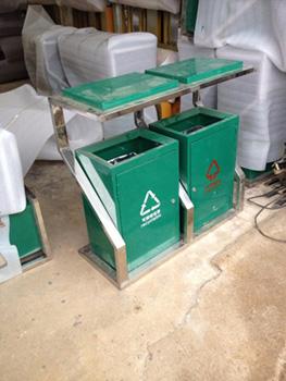 贵阳户外钢制分类垃圾桶