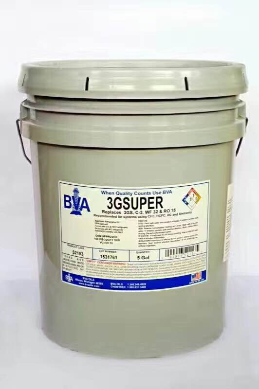 曲靖BVA冷凍油BVA-3.GS-18.9L