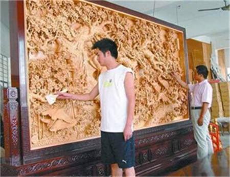 郑州木雕落地屏风