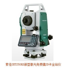 新型激光免棱镜SD卡全站儀