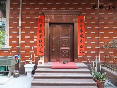 贵阳子母铜门
