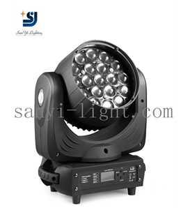 LED19颗12W摇头光束染色灯
