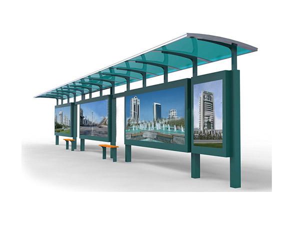 张家口不锈钢候车亭制作_复古式候车亭设计_公交候车亭制作厂家