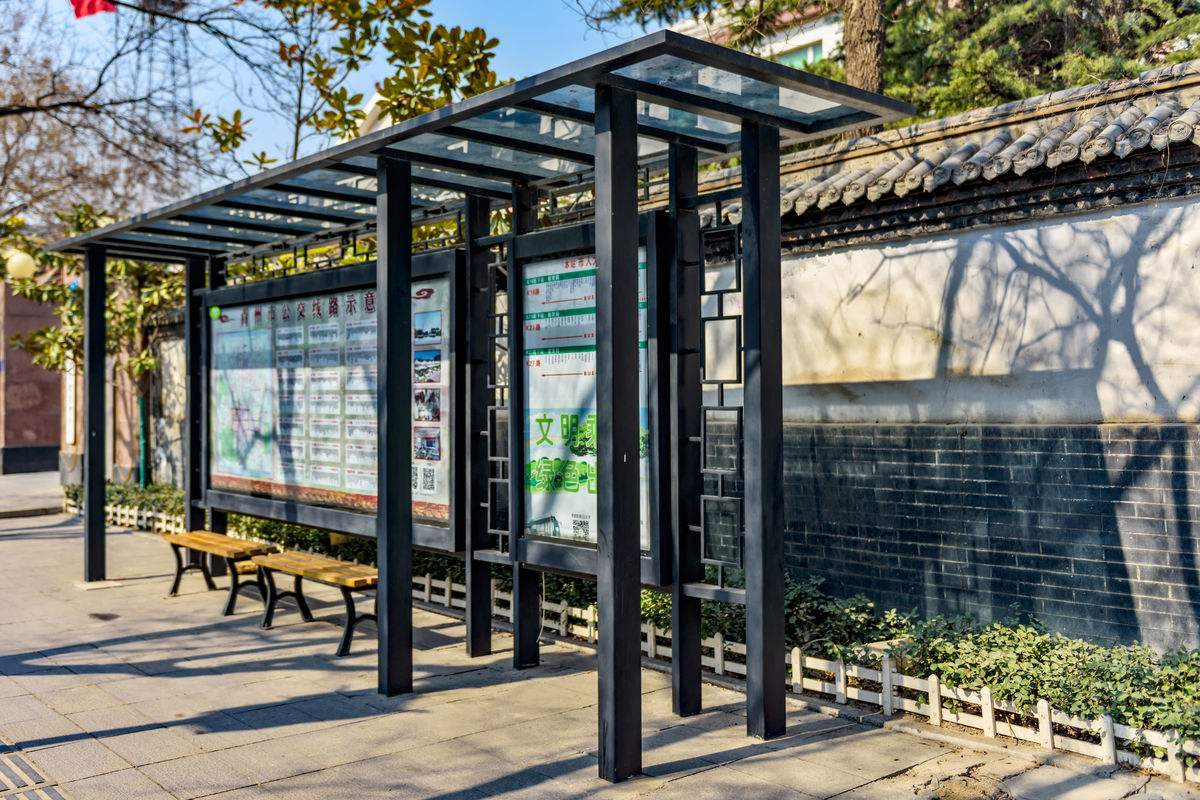 【森亮】候车亭制作-HCT-A018新款公交候车亭/仿古候车亭