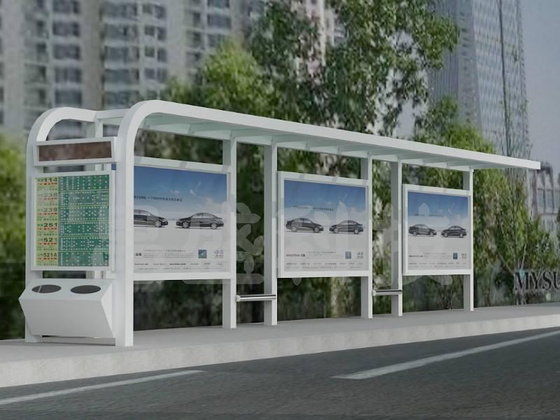 河南专业制作新款候车亭-仿古候车亭/不锈钢候车亭