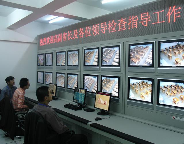 普洱带操控台连体式电视墙