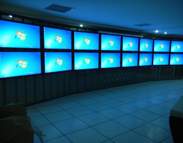 云南网孔式平面电视墙