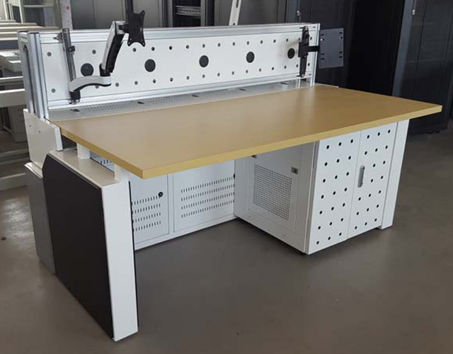 组合式铝屏风操控台