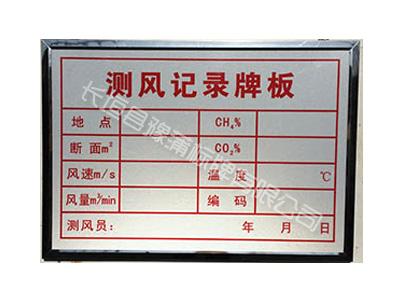煤矿安全管理牌