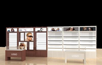眼镜展柜效果图