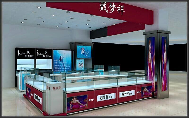 贵州贵阳饰品展柜设计