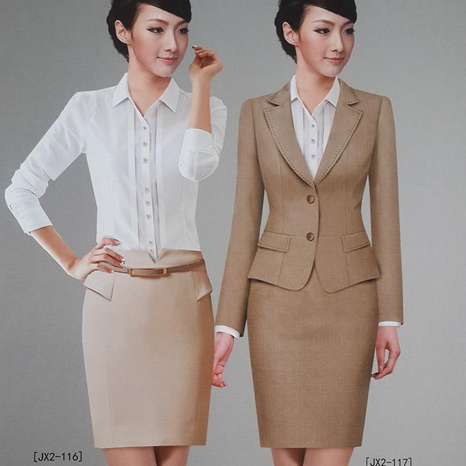商务女装带外套