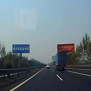青銀高速K604+900公里處單立柱