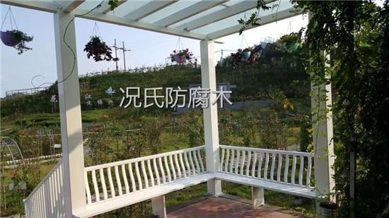 四川防腐木花架制作