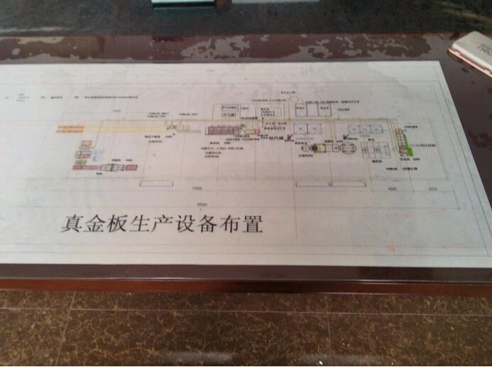 真金板生产设备布置图