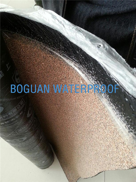 waterproof membrane with sand