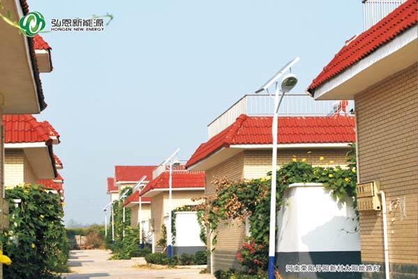 河南滎陽丹陽新村太陽能路燈