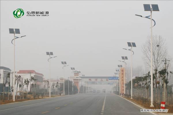 南陽鴨河太陽能路燈