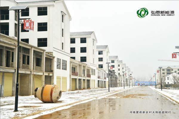 河南夏邑新農村太陽能庭院燈