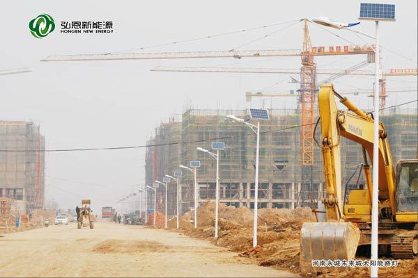 河南永城未來城太陽能路燈